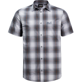 Jack Wolfskin Hot Chili Shirt Men pebble grey checks